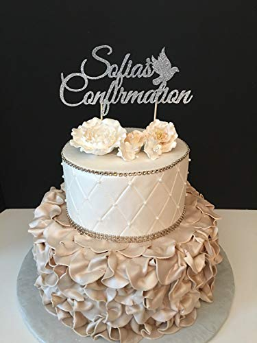 Funlaugh Personalized Confirmation Confirmation Wedding Cake Toppers Letters Funny Wedding Anniversary Cake Topper Party Event -