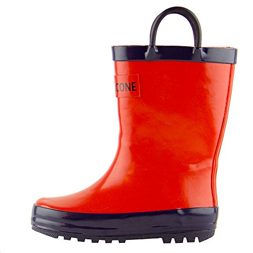 lone-cone-childrens-waterproof-rubber-rain-boots-in-solid-colors-with-easy-on-handles-simple-for-kid