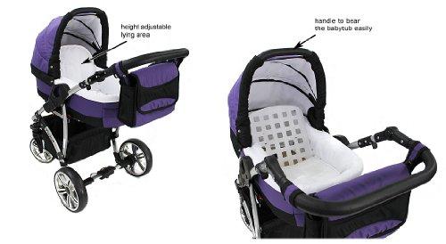 baby sportive landau pour bb sige auto poussette systme 3en1 incluant sac langer et protection pluie et moustique amazonfr bbs