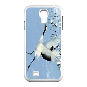 JFLIFE Red crowned Crane Phone Case for samsung galaxy s4 White Shell Phone [Pattern-1]