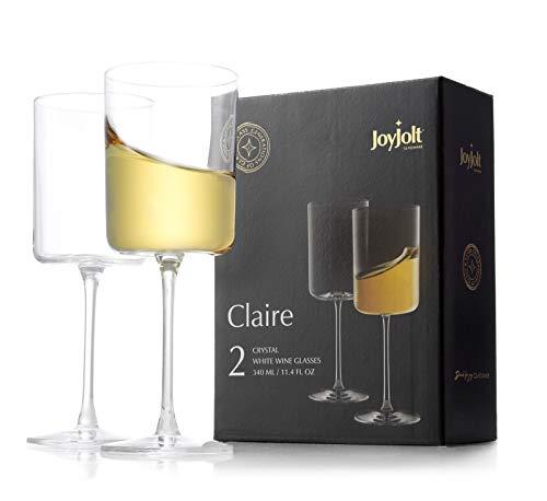 JoyJolt White Wine Glasses –...