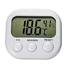 Hootech Digital Hygrometer Thermometer Indoor Outdoor Humidity Monitor with Temperature LCD Display Gauge Humidity Meter Wireless Outdoor Hygrometer