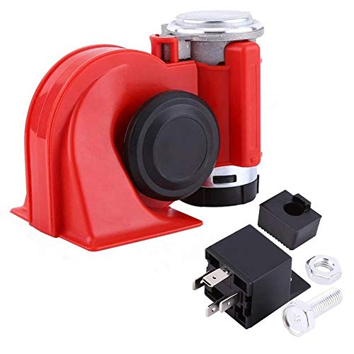 SoundOriginal 12Volt Loud Car Air Horn Big Truck Horn 150db with Automotive Relay Electric Horn for Truck Car Motorcycle (Red)