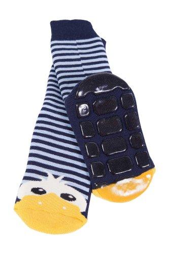 Weri Spezials Kinder Voll-ABS Socke Enten Motiv in Marine Gr.23-26 (3-4 Jahre)