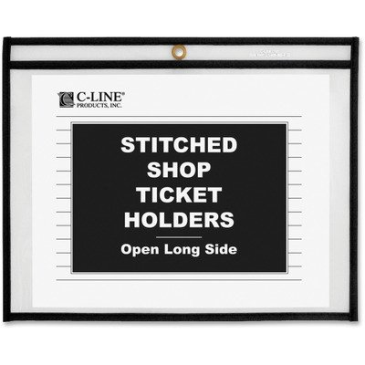 11 Ticket Holders (C-Line Shop Ticket Holders, Stitched, Sides Clear, Open Long Side, 11 x 8 1/2-25 holders.)