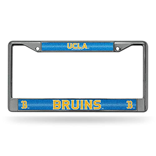 Rico Industries NCAA UCLA Bruins Bling Chrome License Plate Frame with Glitter Accent