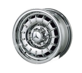 "Replica 14"" Old Style Chrome Wheels for Mercedes Benz - Set of 4 with Lugs and Cap!"