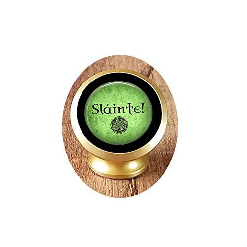 Slainte! Irish Drinking Toast - Celtic Pendant Necklace - Celtic Jewelry - Sla - Magnetic Mounts 360 Degree Rotation from Dashboard Unique Customized Gift,Everyday Gift Magnetic Car Phone Mount Holder