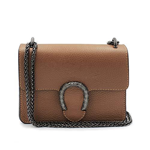 Glamexx24 Damen Clutch echt Leder Tasche Abendtasche mit Kette Handtasche Made in Italy