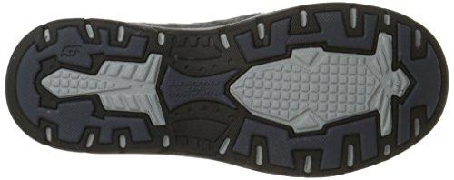 previsto Casual Avillo uomo scarpa Skechers nero sulla scivolare BHWgZv