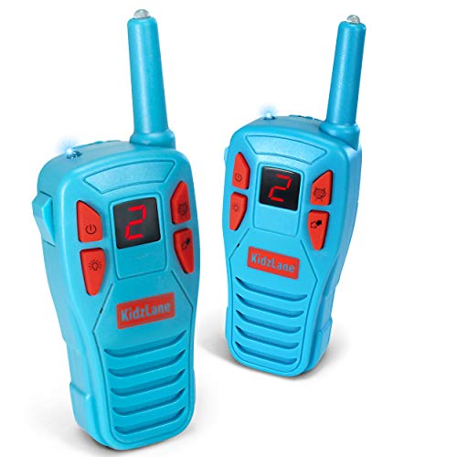 Kidzlane Voice Changing Walkie Talkies for Kids - 2 Mile Range, 8 Channels, Flashlight, & Call Alert -