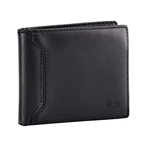 M.R Mens Wallet RFID Protection Genuine Leather Bifold Wallets for Men with Coin Pocket Gift Box