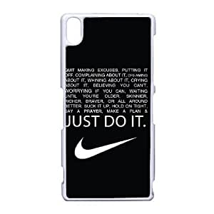 Sony Xperia Z3 Cover , Nike Just Do It Cell phone case White for Sony Xperia Z3 - KS888-123568