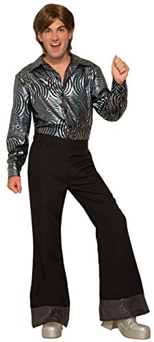 Forum Novelties Men's Disco Pants-Black Party Supplies, Standard
