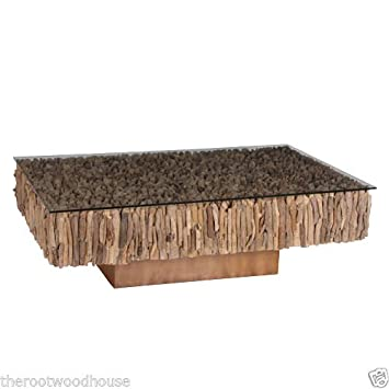 Amazonde Beistelltisch Aus Treibholz Groß Treibholz Tisch Auf