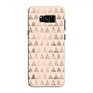 Cover It Up - Brown Light Pink Triangle Tile Galaxy S8 Hard Case