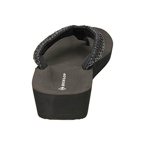 DunlopRaffia - talón abierto mujer Negro - negro