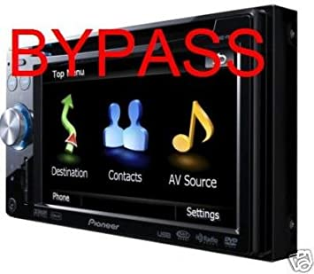 Amazon com: Pioneer Avic-f900bt Navigation Video in Motion Bypass