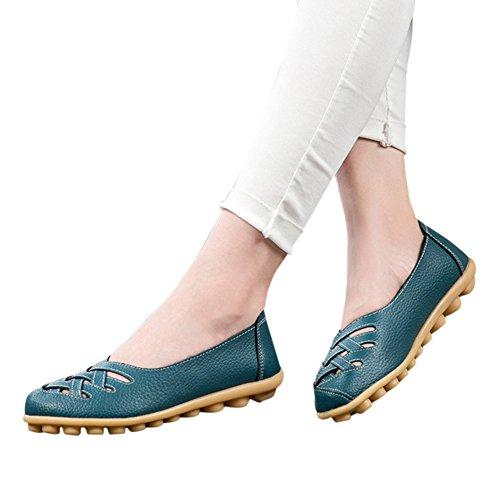 fereshte , Sandales Compensées femme - bleu - bleu clair,