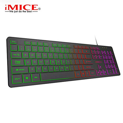 IslandseIMICE KA-200 Backlight Suspension Key Mechanical Keyboard Game Wired PC Notebook Black