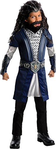 Boys Hobbit Thorin Kids Child Fancy Dress Party Halloween Costume, S (4-6) (Hobbit Costume Toddler)
