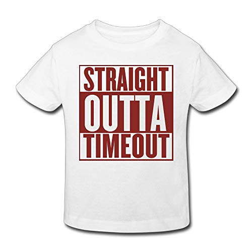 Waldeal Boys Girls Straight Outta Timeout Shirt Funny Toddler Graphic Tee 5T 6T for $<!--$8.99-->