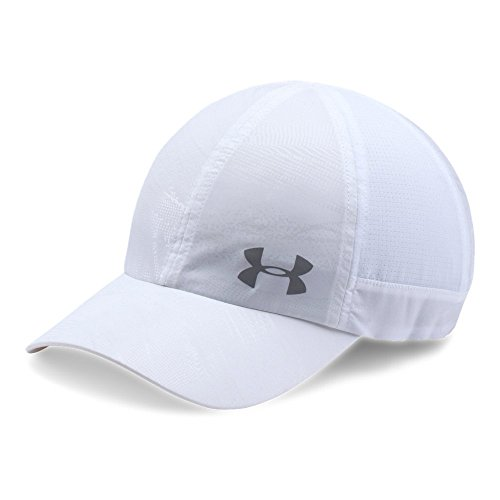 Under Armour Women's Fly By ArmourVent Cap, White (101)/Silver, One Size (Cap Running Armour Under)