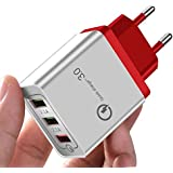 PremiumAV Quick Charge 3.0 USB Plug Phone Wall Fast Charger for Smart Phone (Multi-Color)