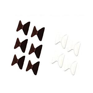 5 Pairs 2.5mm Non-slip Silicone Nose Pads for Eyeglasses Brown+Transparent