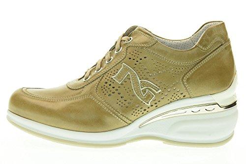 NERO GIARDINI donna sneakers zeppa P717052D/406 taglia 37 Beige