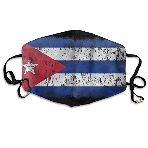 uZQKWFThLX Flag of Cuba Face Mouth Mask Earloop Mouth Muffle Outdoor Reusable Mask -