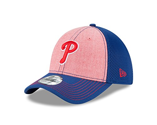 fan products of MLB Philadelphia Phillies Heathered NEO 39Thirty Stretch Fit Cap, Small/Medium, Scarlet