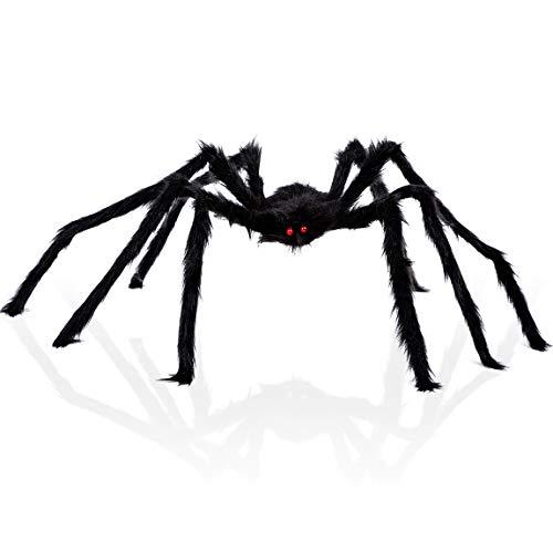 PrettyQueen Halloween Spider Giant Fake Black Hairy Spider Best Halloween Decoration Outdoor Decor (24Inch, Black) ()