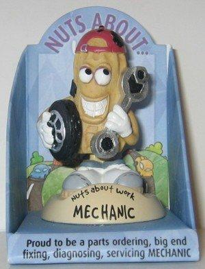 "Nuts About Work ""Mechanic"" Peanut Figurine"