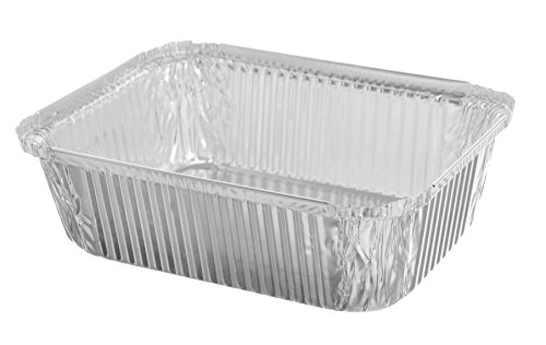 Sherri Lynne Home Premium Quality Durable, 9 X 7 Aluminum Foil Pans 5 Lb Capacity With Board Lids, 25 COUNT