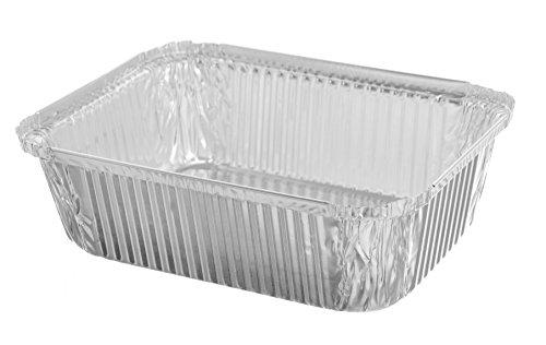 Sherri Lynne Home Premium Quality Durable, 9 X 7 Aluminum Foil Pans 5 Lb Capacity With Board Lids, 25 COUNT