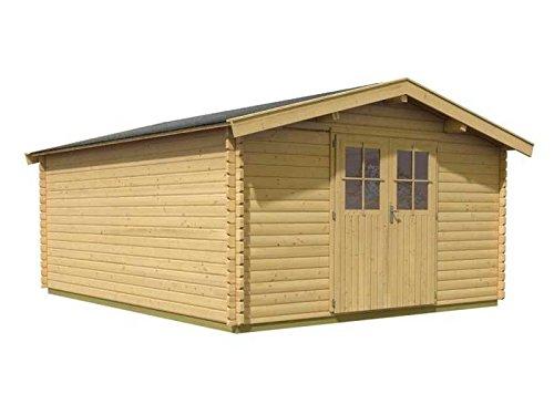 Karibu Woodfeeling Gartenhaus Mühlheim 6 38 mm Blockbohle