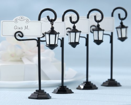 Kate-Aspen-25057BK-Bourbon-Street-Streetlight-Place-Card-Holder-with-Coordinating-Place-Cards-24-total-pieces6-sets-of-4