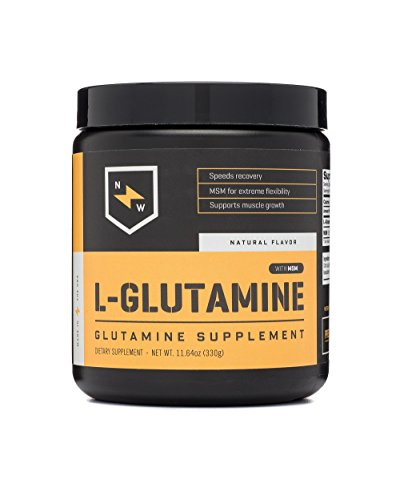 New Whey Nutrition L-glutamine Post Workout Recovery Supplement Mix, Natural, 330 Gram