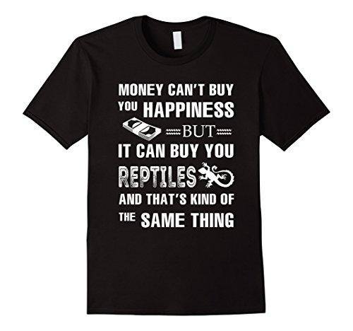 Mens Money can buy you Reptiles T Shirt Large Black