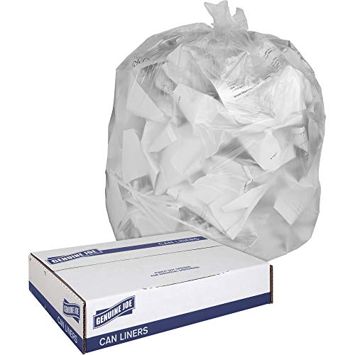 Genuine Joe Super Hexene Clear Trash Can Liner - Trash Bag - 30amp;quot; x 36amp;quot; - 0.6mil Thickness - 250 / Box - Clear