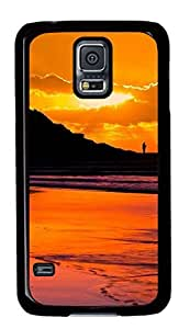 Samsung Galaxy S5 PC Hard Shell Case Golden Sunset Black Skin by Sallylotus by ruishername