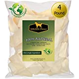 Golden Chews Natural Rawhide Chips – Premium Long-Lasting Dog Treats with Thick Cut Beef Hides (4 pounds)