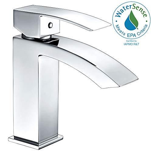 - ANZZI Reverse Single Hole and Single Handle Bathroom Sink Faucet | cUPC Polished Chrome Deck Mounted Bathroom Faucet | Lavatory Faucet One Hole without Drain | L-AZ037