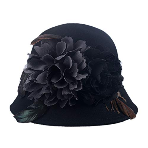 Sinamay Sombreros De Negro Mujer Kentucky Boda Derby Iglesia Ala Lino Sombrero Flor Elegantes Ancha 6pwTnqd