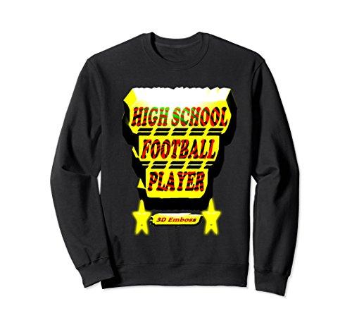 Unisex High School Football Player 2XL Black