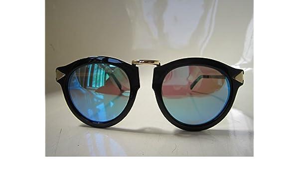 cb52a346d941 Karen Walker Harvest 1101406 Unisex Handmade Sunglasses Black Frame,  Sunglasses - Amazon Canada