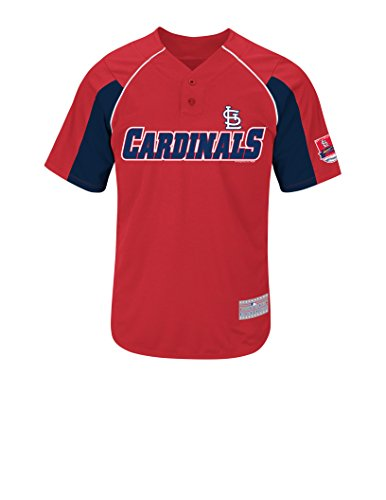 MLB St. Louis Cardinals Men's Wacha 52 Jersey, Athletic Red/Athletic Navy/White, X-Large