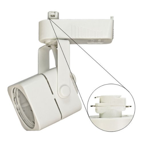 Nora Track Light NTL-202W - White - Cube Shaped Track Head - Operates 20-50 Watt MR16 - Compatible with Halo Track - Built-In 12 Volt Electronic (Cube Track Light)