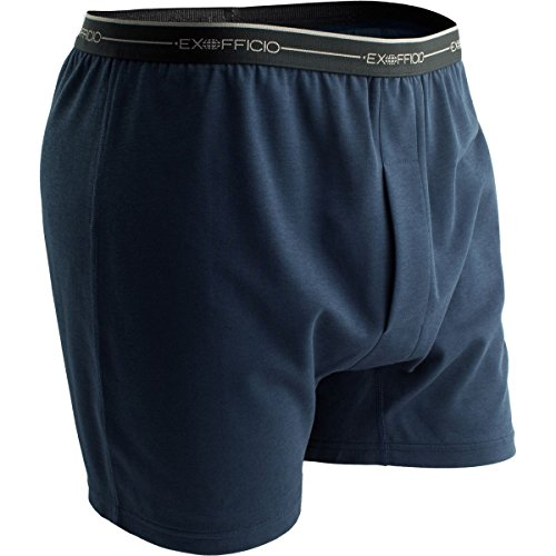 ExOfficio Men's Sol Cool Boxer Shorts,Navy,X-Large (Shorts Ex Spandex Officio)